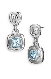 John Hardy Bedeg Silver Batu Small Square Drop Earrings