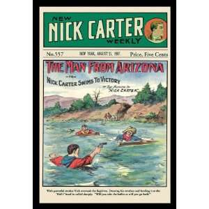Nick Carter The Man from Arizona 12x18 Giclee on canvas