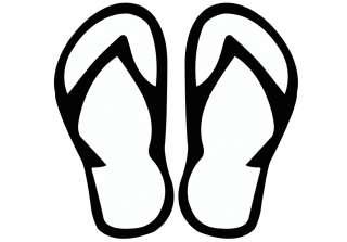 Flip Flops Sandals Decal Sticker Car Home Window Vinyl