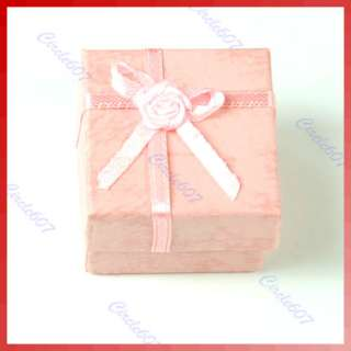 Pcs Jewellery Jewelry Gift Box Case for Ring Square Pink