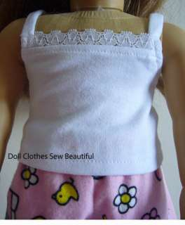DOLL CLOTHES fit American Girl Hello Kitty Easter PJs
