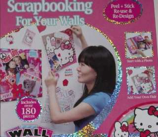 Hello Kitty Wall Scrapbook Kit Cat Stickers Decals