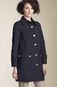 Marc Jacobs Bright Navy Blue Coated Canvas Coat Jacket Runway $528 NWT