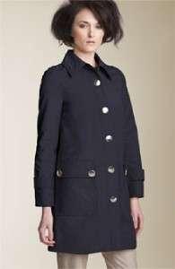 Marc Jacobs Bright Navy Blue Coated Canvas Coat Jacket Runway $528 NWT