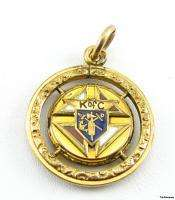 KNIGHTS OF COLUMBUS   fraternal Vintage CHARM PENDANT