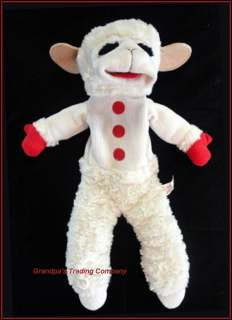 2002 Shari Lewis Lamb Chop 18 Hand Puppet Plush Aurora Soft Furry