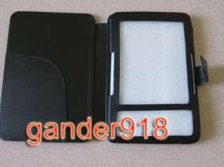 KINDLE 3 3TH GENERATION PREMIUM BLACK LEATHER POUCH CASE COVER