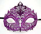 venetian design masquerade mardi gras party face mask purple metallic