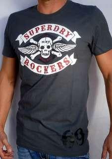 Superdry Mens SKULL RING BIKER Rockers T Shirt NEW