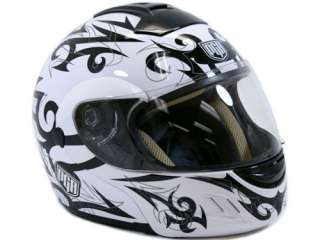 Flip Up White Full Face Motorcycle Helmet Modular ~ M
