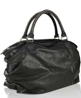 Steve Madden black faux leather ruched BStudz bag
