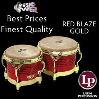 Latin Percussion M201 RW Matador Wood Bongos Red Blaze