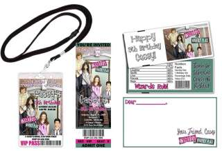 Wizards Of Waverly Place Birthday Party Invitations