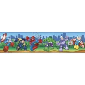Spider Man and Friends Peel & Stick Border
