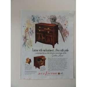 RCA Victor Radios. Vintage 40s full page print ad. (victrola 711V3