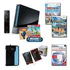 Nintendo Wii Black Super Mario Bundle with 3 Games Acce