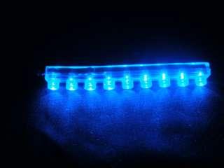 Blue 9 LED FLEXIBLE NEON MOTORCYCLE CAR BOAT LIGHT