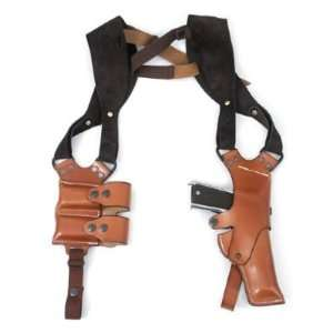 Colt 1911 Full Grain Leather Shoulder Holster with Double