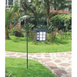 Oriental Hanging White LED Solar Light W/cane Patio, Lawn & Garden