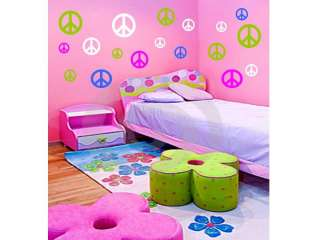 96 PEACE SIGNS Vinyl Wall Decals Stickers Room Decor