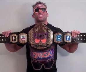 WWE Zack Ryder Internet Championship figure belt custom Mattel elite